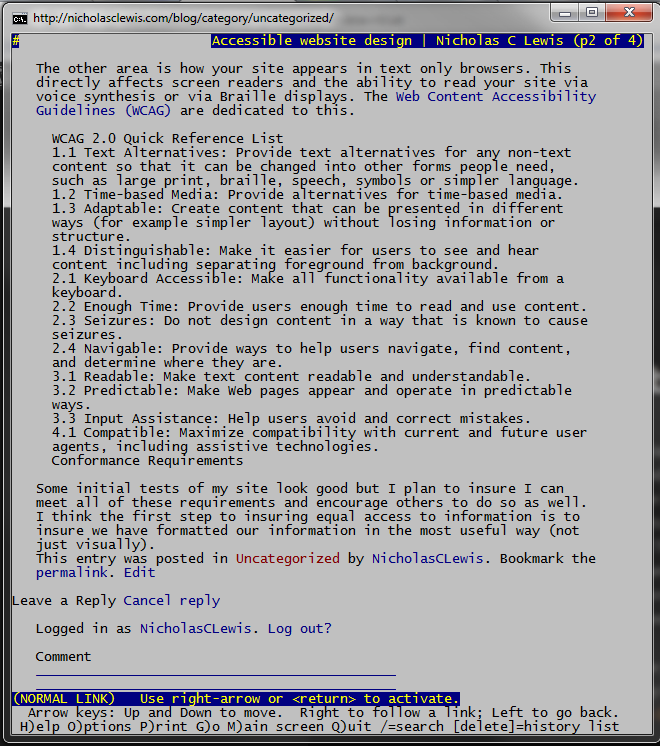 This page viewed in lynx text-based web browser